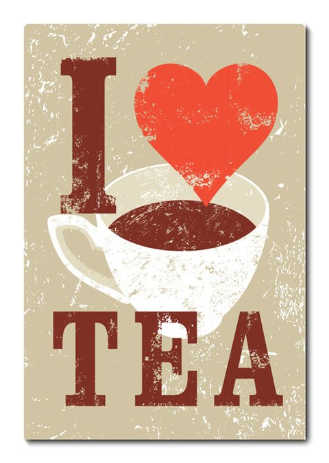 Placa Decorativa - I love Tea - 0678plmk