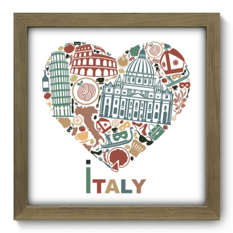 Quadro Decorativo - I Love Italy - 067qdmm