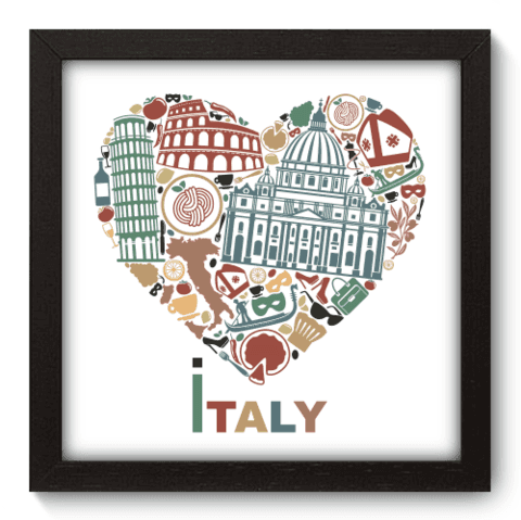 Quadro Decorativo - I Love Italy - 067qdmp