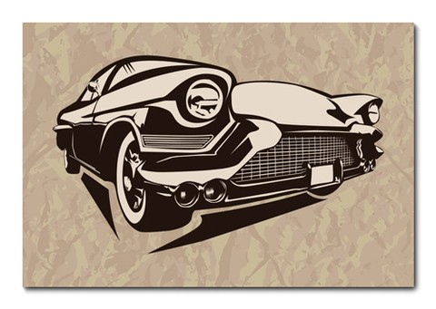 Placa Decorativa - Carro - Vintage - 0682plmk