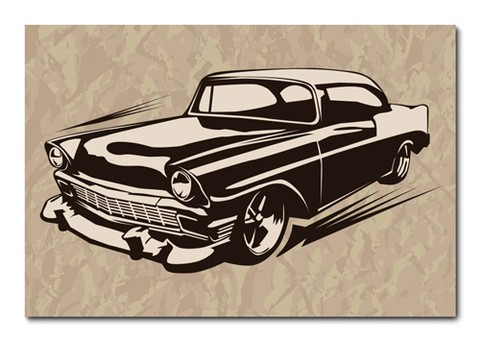 Placa Decorativa - Carro - Vintage - 0685plmk