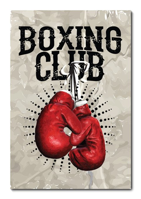 Placa Decorativa - Boxe - 0689plmk