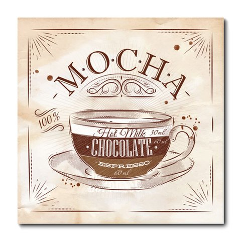 Placa Decorativa - Mocha - Café - 0690plmk