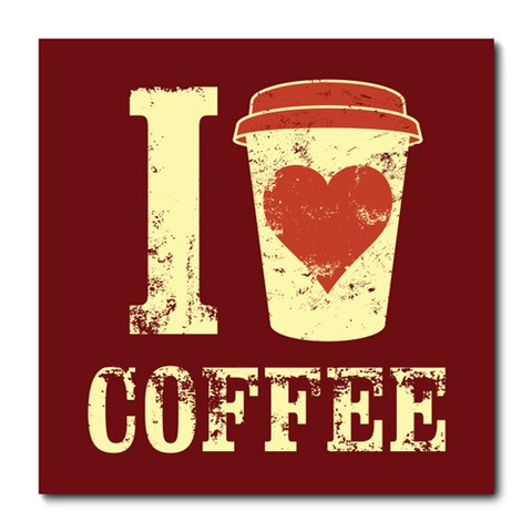 Placa Decorativa - I Love Coffee - 0692plmk