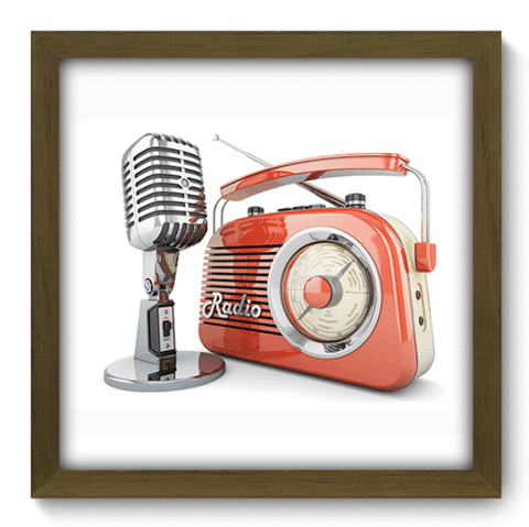 Quadro Decorativo - Radio - 069qdgm