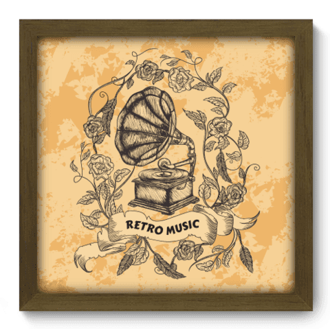 Quadro Decorativo - Retro Music - 073qdgm