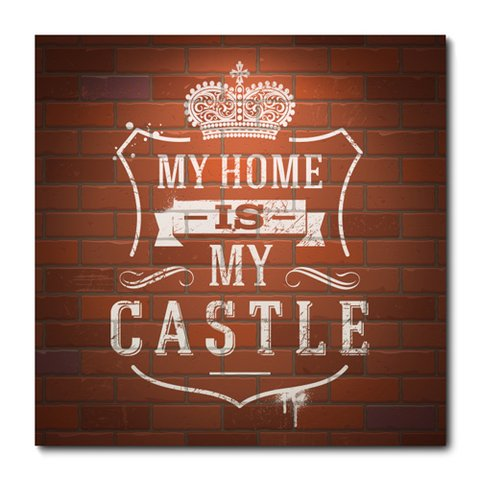 Placa Decorativa - My Castle - 0753plmk