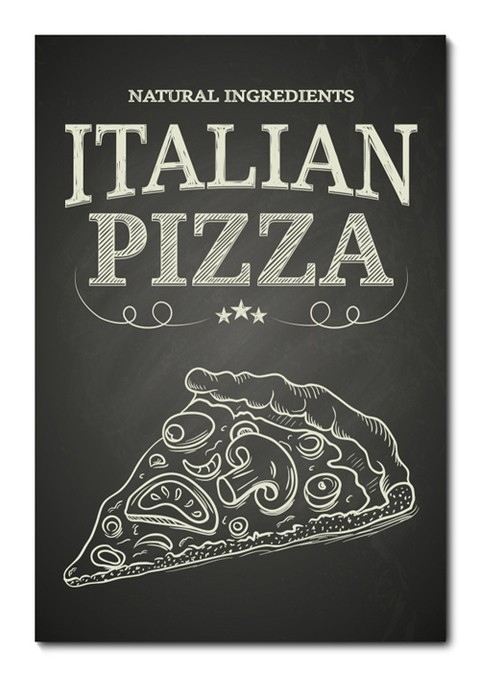 Placa Decorativa - Pizza - 0756plmk