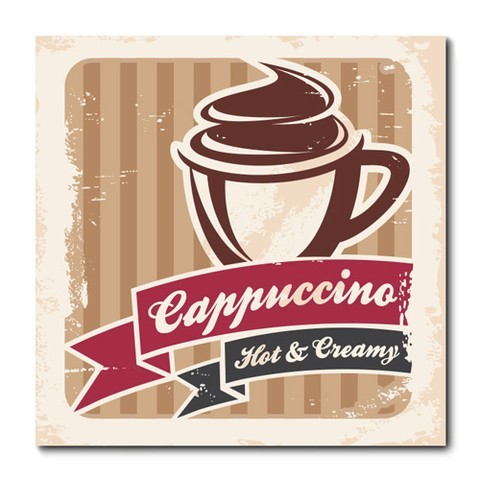 Placa Decorativa - Cappuccino  - 0760plmk
