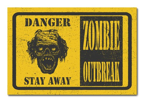 Placa Decorativa - Zombie - 0768plmk
