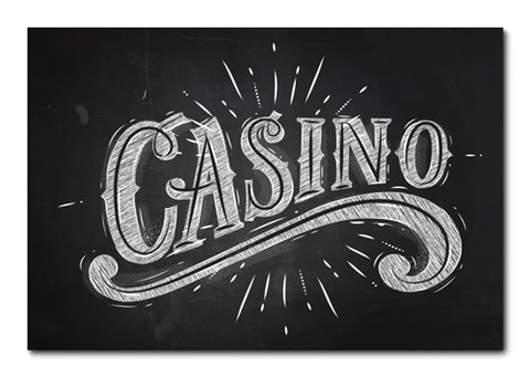 Placa Decorativa - Casino - 0770plmk