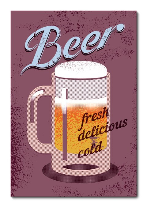 Placa Decorativa - Beer - 0774plmk