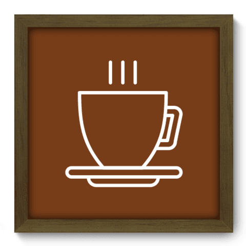 Quadro Decorativo - Coffee - 077qdcm