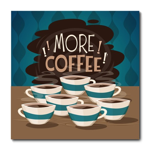 Placa Decorativa - More Coffee - 0793plmk