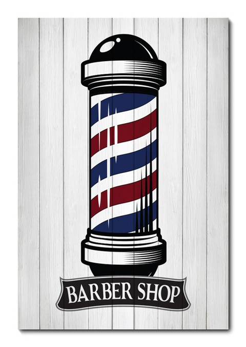 Placa Decorativa - Barber Shop - Barbearia - 0826plmk