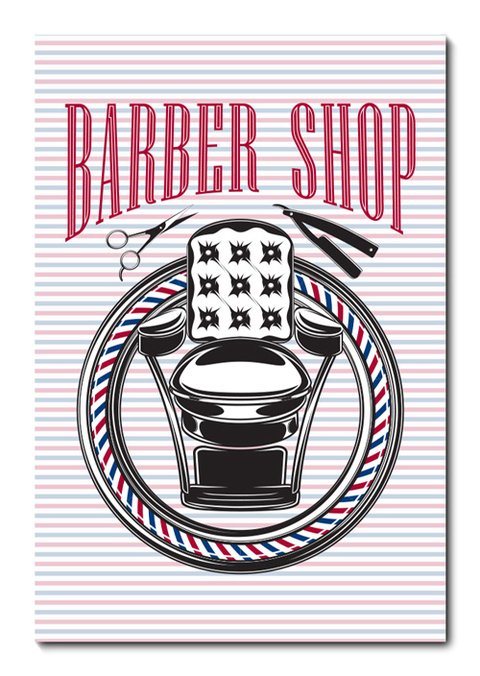 Placa Decorativa - Barber Shop - Barbearia - 0827plmk