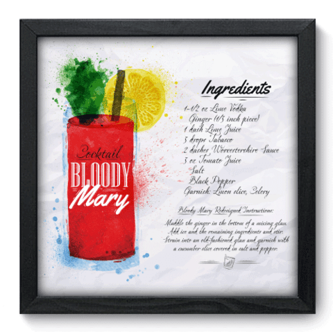 Quadro Decorativo - Bloody Mary - 082qdcp