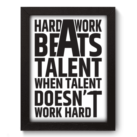 Quadro Decorativo - Hard Work - 082qdrp