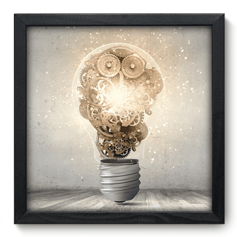 Quadro Decorativo - Think - 083qddp