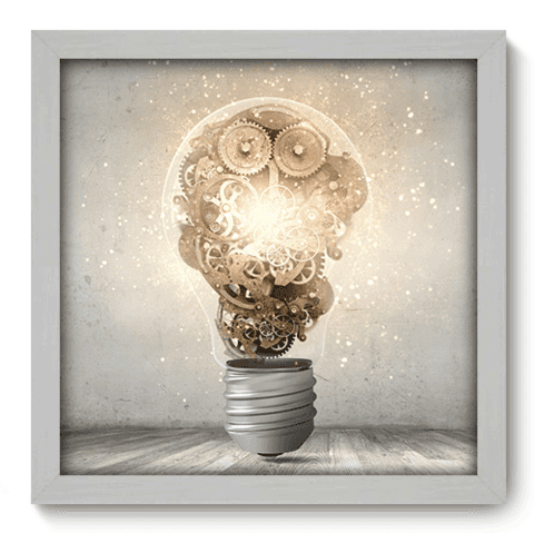 Quadro Decorativo - Think - 083qddb
