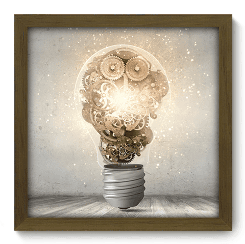 Quadro Decorativo - Think - 083qddm