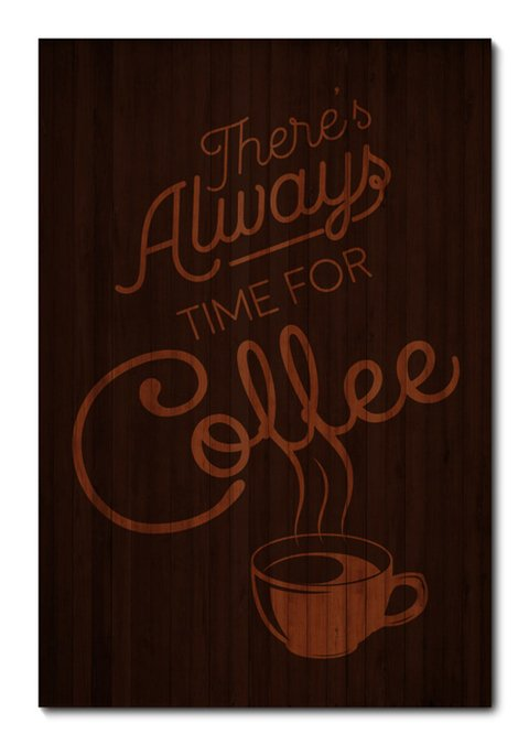 Placa Decorativa - Time For Coffee - 0856plmk