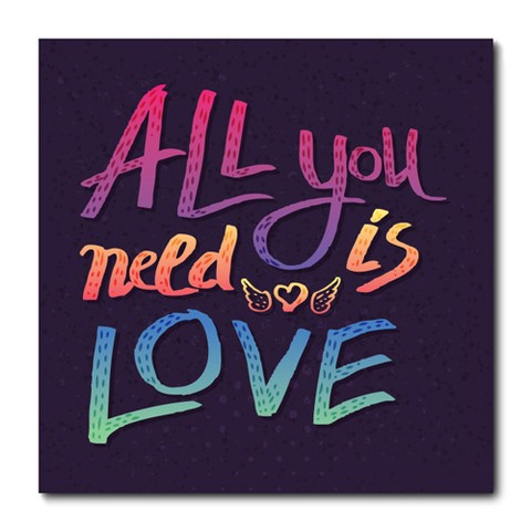 Placa Decorativa - All You Need Is Love  - 0894plmk