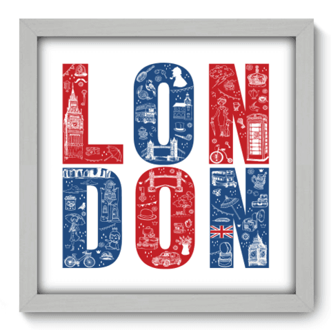 Quadro Decorativo - London - 090qdmb