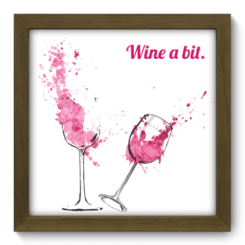 Quadro Decorativo - Wine a bit - 092qdcm