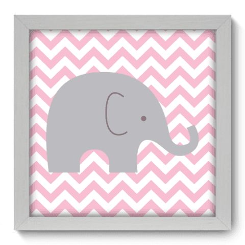 Quadro Decorativo - Elefante Chevron - 093qdbb