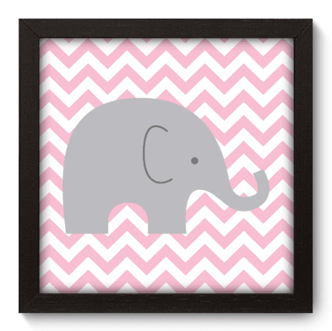 Quadro Decorativo - Elefante Chevron - 093qdbp