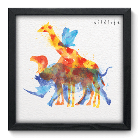 Quadro Decorativo - Wildlife - 093qdsp