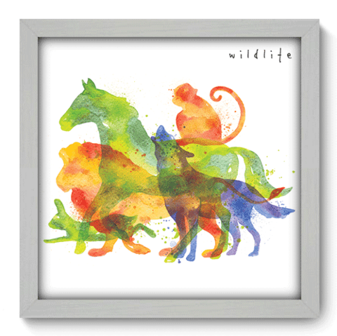 Quadro Decorativo - Wildlife - 094qdsb