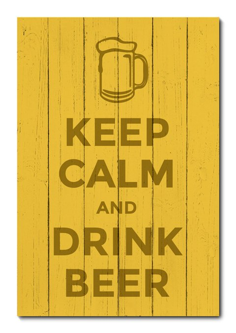 Placa Decorativa - Keep Calm and Drink Beer - 0955plmk