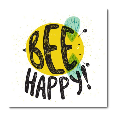 Placa Decorativa - Be Happy - 0959plmk