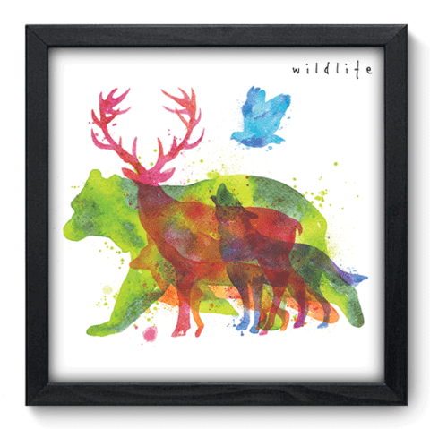 Quadro Decorativo - Wildlife - 095qdsp