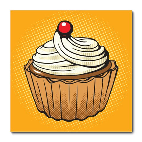 Placa Decorativa - Cupcakes - 0964plmk