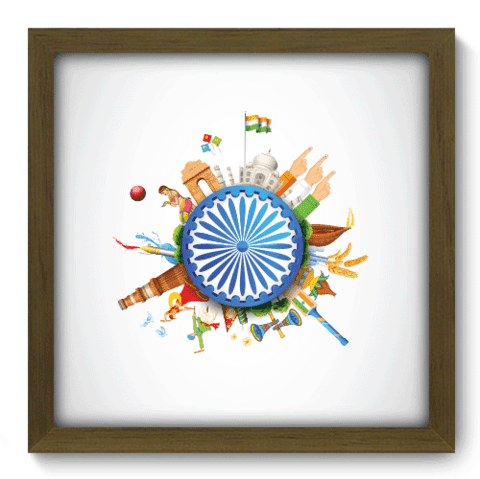 Quadro Decorativo - India - 098qdmm