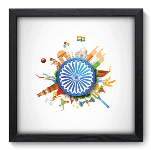 Quadro Decorativo - India - 098qdmp