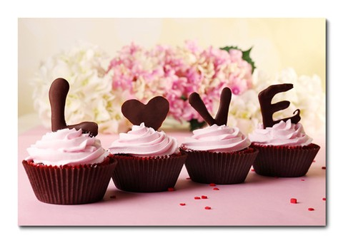 Placa Decorativa - Cupcakes - 0993plmk