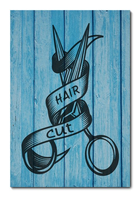 Placa Decorativa - Barber Shop - Barbearia - 0999plmk