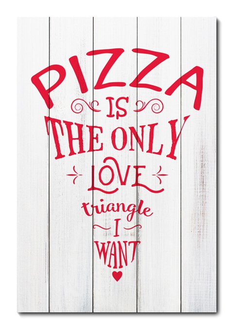 Placa Decorativa - Love Pizza - 1000plmk