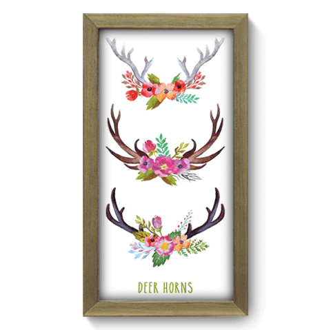 Quadro Decorativo - Deer Horns - 108qdsm