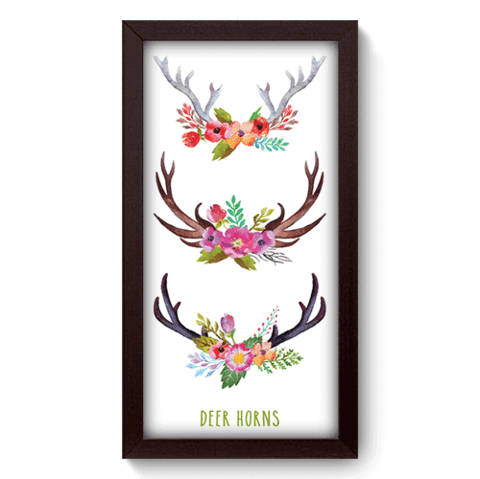 Quadro Decorativo - Deer Horns - 108qdsp