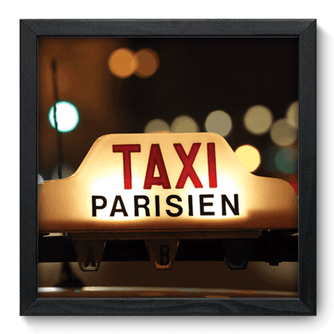 Quadro Decorativo - Taxi Paris - 126qdmp