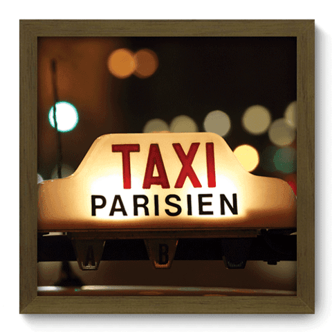 Quadro Decorativo - Taxi Paris - 126qdmm