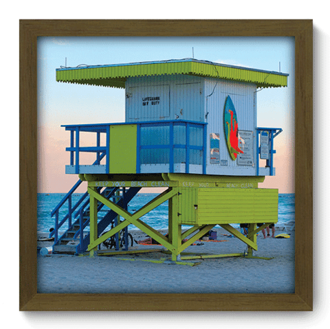 Quadro Decorativo - Miami - 128qdmm
