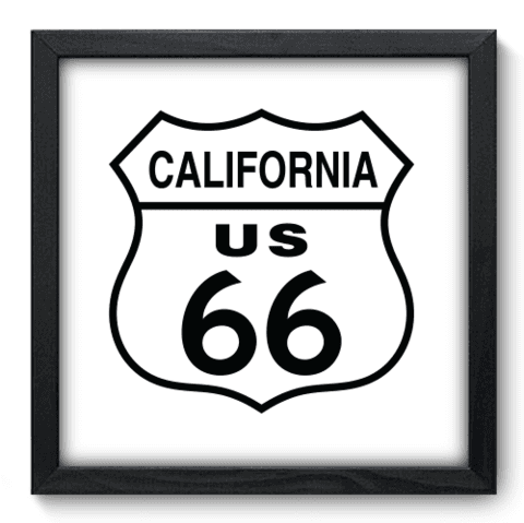 Quadro Decorativo - Route 66 - 135qdvp