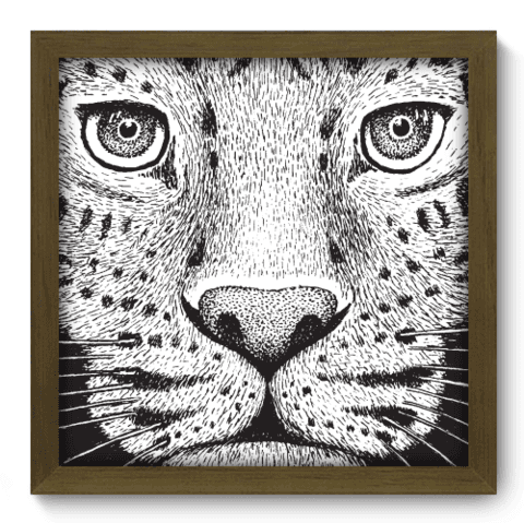 Quadro Decorativo - Leopardo - 137qdsm