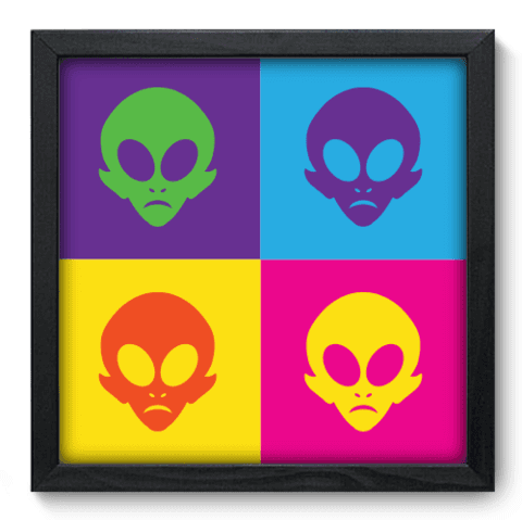 Quadro Decorativo - Alien - 137qdvp